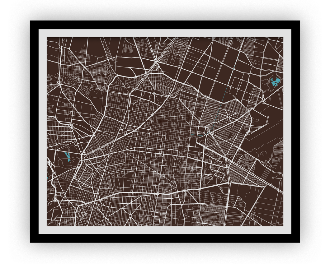 Mexico City Map Print - Choose your color
