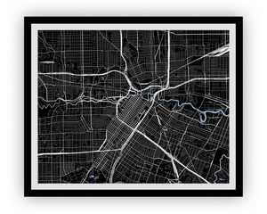 Houston Map Print - Any Color You Like