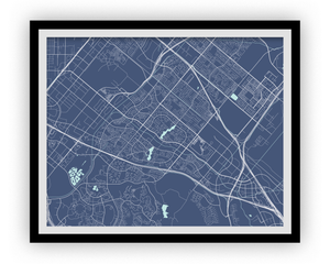 Irvine Map Print - Choose your color
