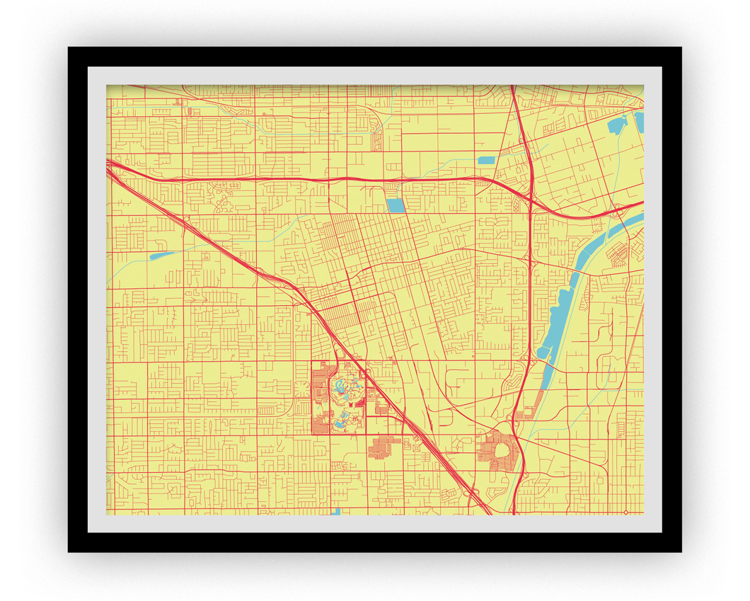 Anaheim Map Print - Choose your color