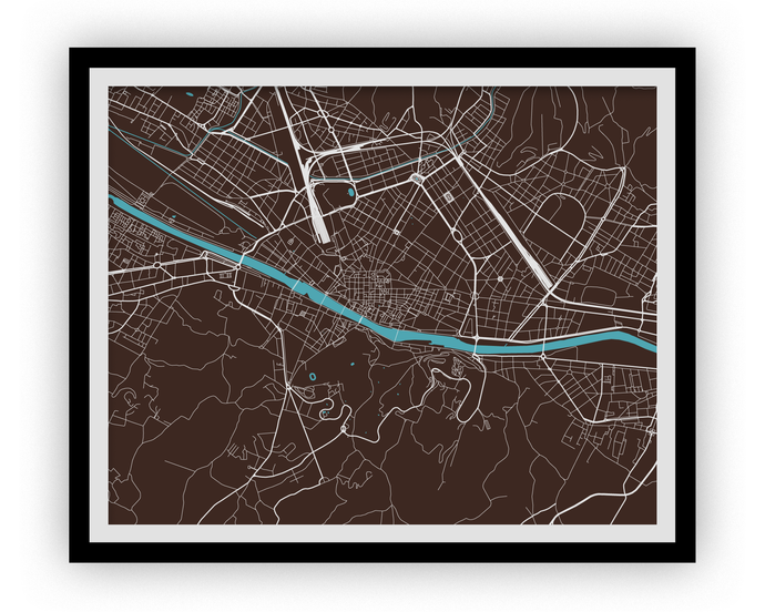 Florence Map Print - Choose your color