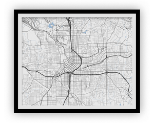Atlanta Map Print - Any Color You Like