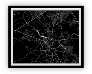Rawalpindi Map Print - Choose your color