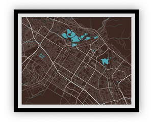 Fremont Map Print - Choose your color