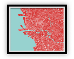 Manila Map Print - Choose your color