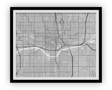 Oklahoma City Map Print - Choose your color