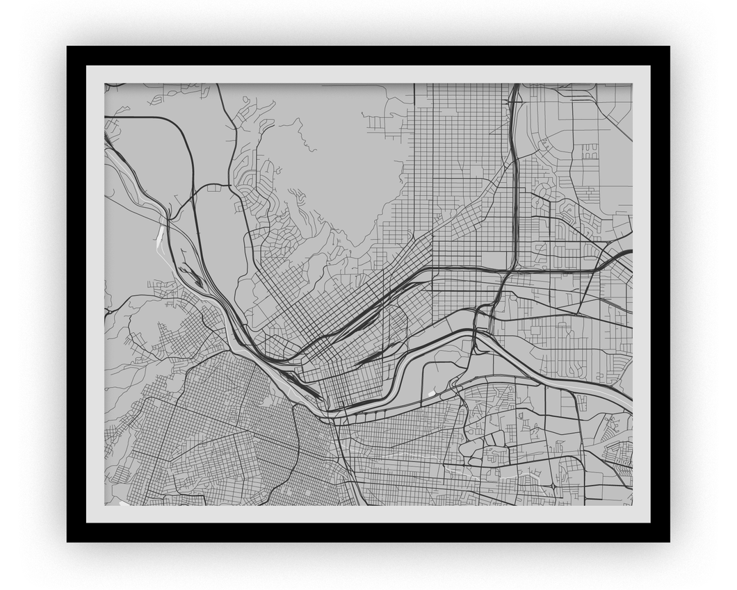 El Paso Map Print - Choose your color