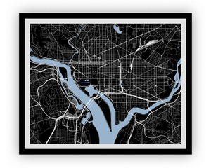 Washington Map Print - Any Color You Like
