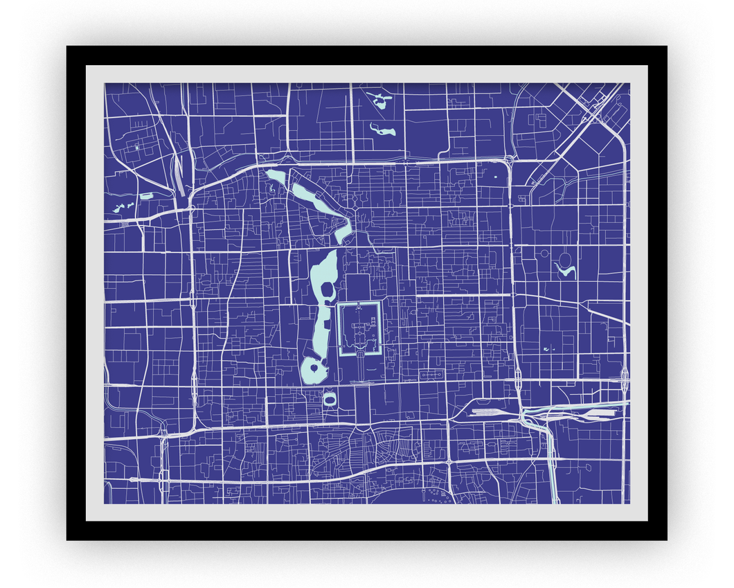 Beijing Map Print - Choose your color