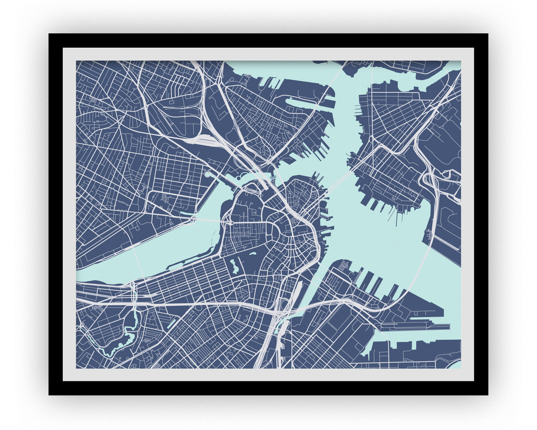 Boston Map Print - Choose your color
