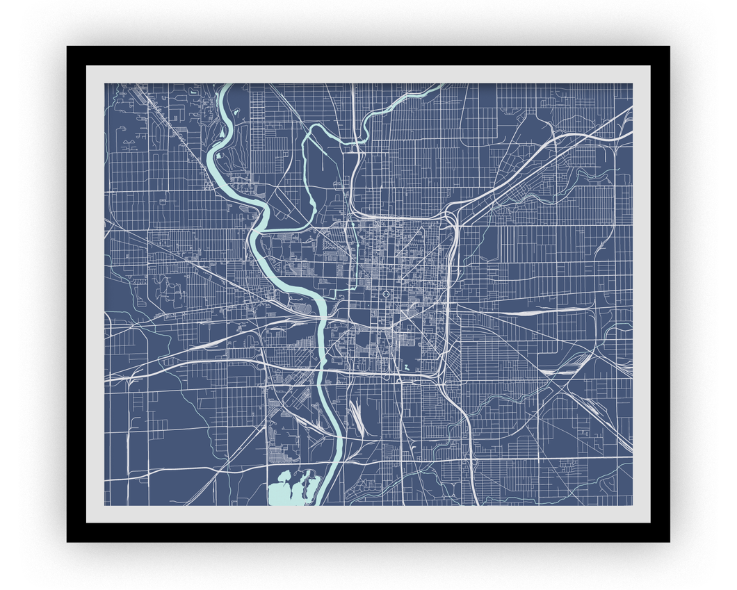 Indianapolis Map Print - Choose your color