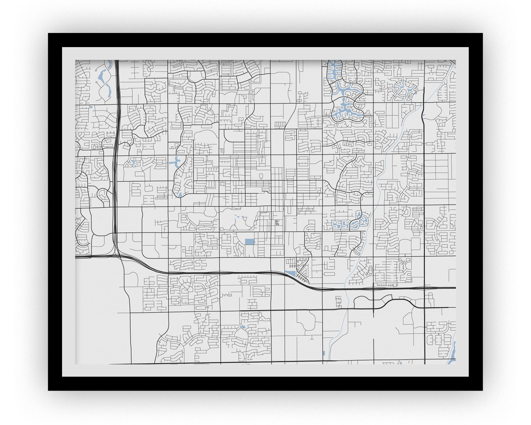 Chandler Map Print - Choose your color