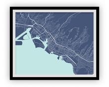 Honolulu Map Print - Choose your color