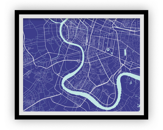 Bangkok Map Print - Choose your color