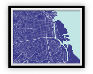 Buenos Aires Map Print - Choose your color