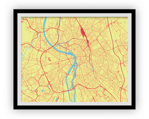 Toulouse Map Print - Choose your color