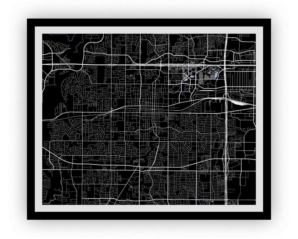 Arlington Texas Map Print - Choose your color