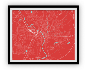 York Map Print - Choose your color