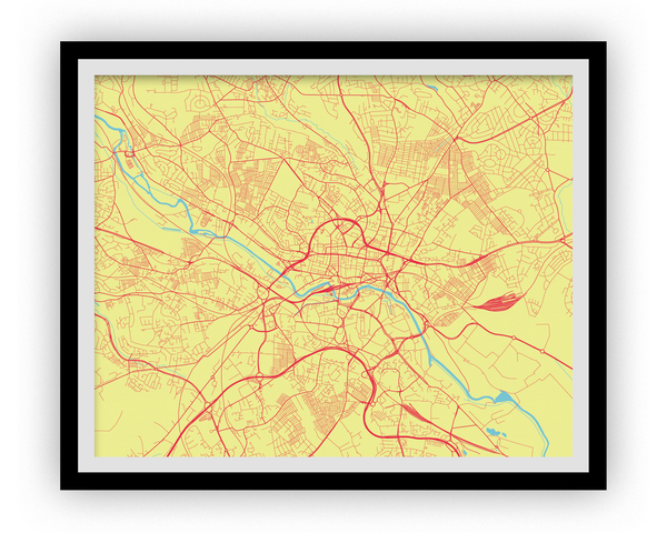 Leeds Map Print - Choose your color