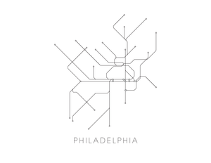 Philadelphia Subway Map Print - Philadelphia Metro Map Poster