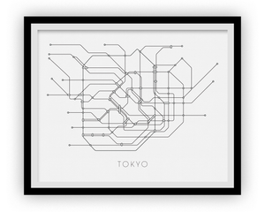 Subway Map Paper Products.Tokyo Subway Map Print Tokyo Metro Map Poster Ilikemaps