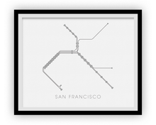 San Francisco Subway Map Print - San Francisco BART Map Poster