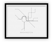 Washington Subway Map Print - Washington Metro Map Poster