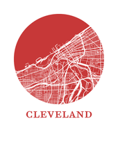 Cleveland Map Print - City Map Poster