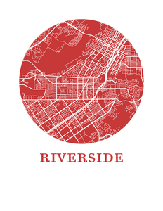 Riverside Map Print - City Map Poster