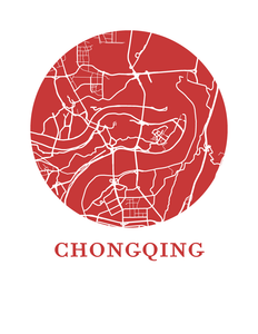Chongqing Map Print - City Map Poster