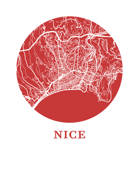 Nice Map Print - City Map Poster
