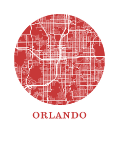 Orlando Map Print - City Map Poster