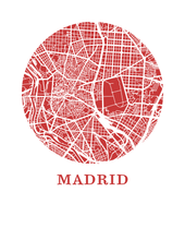 Madrid Map Print - City Map Poster