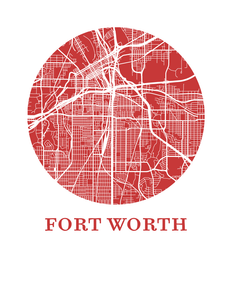 Fort Worth Map Print - City Map Poster