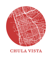 Chula Vista Map Print - City Map Poster