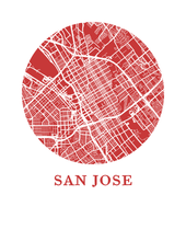 San Jose Map Print - City Map Poster