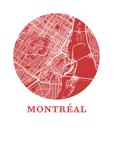 Montreal Map Print - City Map Poster