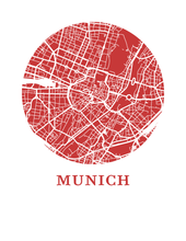 Munich Map Print - City Map Poster