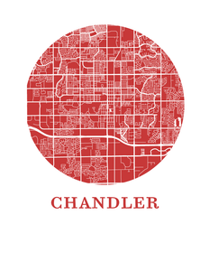 Chandler Map Print - City Map Poster