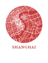 Shanghai Map Print - City Map Poster