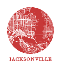 Jacksonville Map Print - City Map Poster
