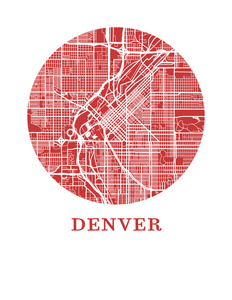 Denver Map Print - City Map Poster
