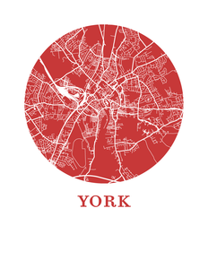 York Map Print - City Map Poster