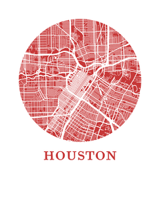 Houston Map Print - City Map Poster