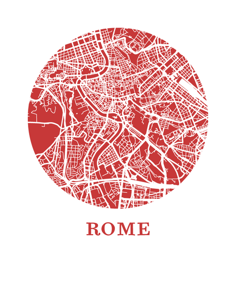 Rome Map Print - City Map Poster