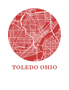 Toledo Ohio Map Print - City Map Poster