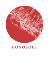 Honolulu Map Print - City Map Poster