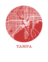 Tampa Map Print - City Map Poster
