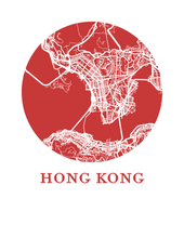Hong Kong Map Print - City Map Poster
