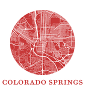 Colorado Springs Map Print - City Map Poster